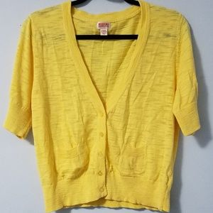 Lovely Mossimo buttercup yellow crop sweater, XXL